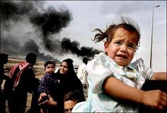 crying child in Iraq