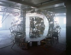 Impressive Typographic Artworks Made with Chairs, Scissors, Twigs And Fabric - DesignTAXI.com