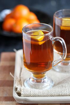 Hot Rum Ginger Tea Toddy Recipe by Cookin' Canuck #cocktail #tea # ...