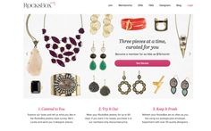 RocksBox.com is like netflix for jewelry. Could be useful for doing videos make a statement with a necklace and then return.