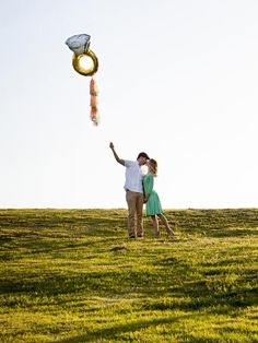 Clever Engagement Announcement Ideas: Giant Engagement Ring Balloon >> http://www.diynetwork.com/decorating/wedding-save-the-date-and-engagement-announcement-ideas/pictures/page-8.html?soc=pinterest