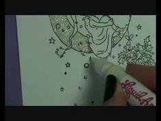 Glitter and Liquid Applique tutorial Bev Rochester