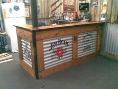 basement bars, corrugated metal bar, metal garage, corrug metal, deck