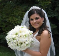 Amazing white peonies brides bouquet!