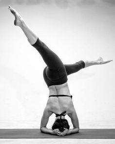 Headstand twist. #yoga #strength
