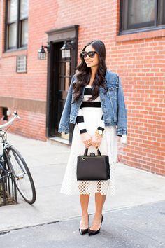 With Love From Kat in @Tibi New York New York New York Eyelet Skirt