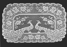 Crocheted Peacock Buffet Pattern