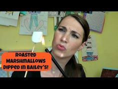 ▶ Roasted Marshmallows Dipped In Bailey's FRIDAY! - #YouTube