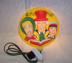 Vintage Christmas Light ~ Plastic Blow Mold Type Lighted Carolers by Timco