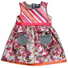 Bright colors from D Spring 2012 mixed patterns, butterfli print, dresses, print sleeveless, sun dress, babi girl, baby girls, girl soft, soft denim