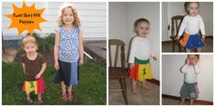 Upcycled T-shirt Twirl Skirt Tutorial