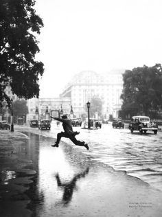 Jump over the puddles.