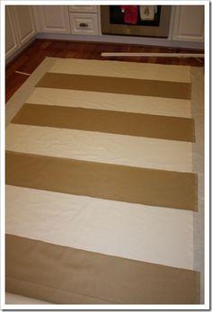 Wide striped curtain tutorial
