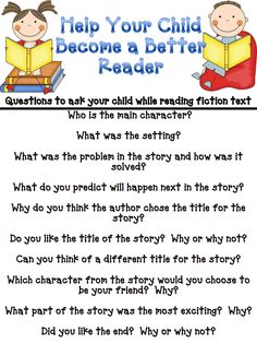 Great reading questions for conferences.
