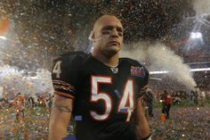 Brian Urlacher walks off the field after the Chicago Bears were defeated by the Indianapolis Colts in Super Bowl XLI, in Miami, Florida. (Nuccio DiNuzzo, Chicago Tribune / February 4, 2007)
