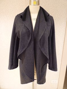 An easy jacket made from one rectangle, one half circle and a triangle!