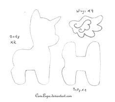 My Little Pony Plush Pattern by CaveLupa.deviantart.com on @deviantART