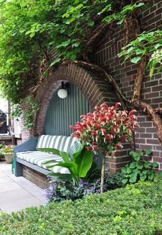 Three Dogs in a Garden: 10 Great Ways to Dress up a Wall or Fence...color for garage doors