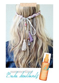 This is a great DIY headband for summer, but I would use feathers instead of tassels.