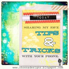 Rhonna DESIGNS: Photography Tips and Tricks with your phone apps