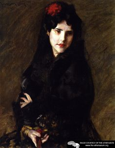 Portrait of Mrs. C (also known as The Artist's Wife)  William Merritt Chase