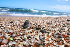 Glass Sand Beach, Kauai, Hawaii