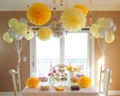 Yellow Party / Shower Decoration Package by BubblyNewYork on Etsy, $74.95