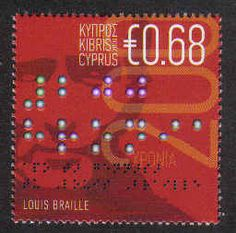 People on Stamps. Cyprus Stamps SG 1185 2009 Louis Braille 200th Birth Anniversary - MINT