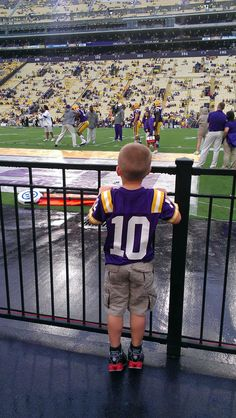 His first #LSU football game.