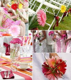 wedding centerpieces gerber daisies   Gerber Daisy Drama