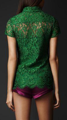 Burberry color combos, emerald, outfit, velvet blouse, shirt