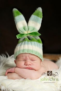 Easter Bunny - Little Man's too big now but I love that hat!