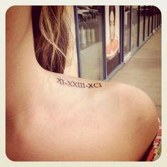 date tattoo
