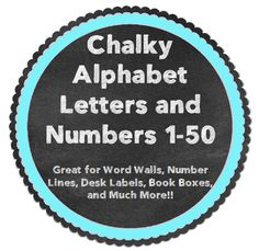 Use these FREE labels for word walls, number lines, desk labels, book boxes, and more!