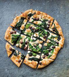 Broccoli Rabe & Olive Pizza