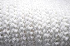 Snowy Faux Knit Baby Blanket