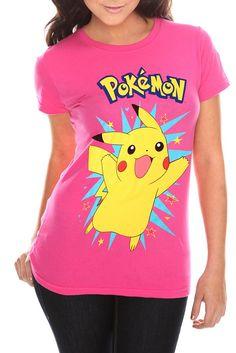 Pokemon Pikachu Pink Girls T-Shirt