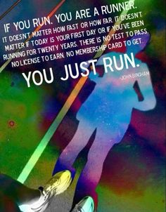 You are a runner.
