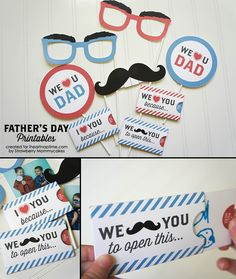"""""""We Love Dad"""" Father's Day Printables on www.iheartnaptime.com #freeprintables #fathersdayprintables #fathersday"""