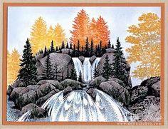 Autumn Cascading Falls