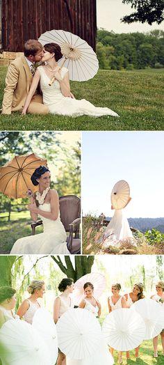 Parasoles en las bodas