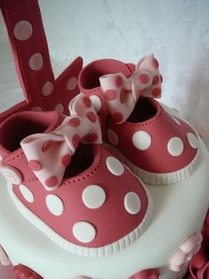 Baby girl dot shoes By patisseriejaja on CakeCentral.com