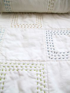 Embroidered Wholecloth Quilt