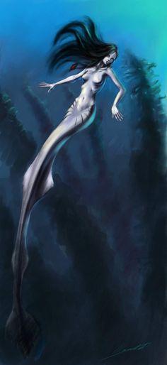 mermaid  by *WhoAmI01  Digital Art / Paintings  Airbrushing / Illustrations / Conceptual