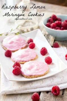 Strawberries and Cream Pudding Cookies - Oh Sweet Basil