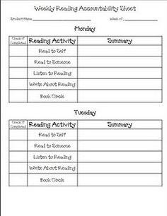 classroom idea, read daili, account sheet, school stuff, readinglanguag art, literaci cafe, school idea, elementari read, daily 5 accountability