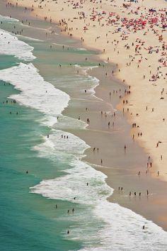 Leme Beach, Rio de Janeiro, Brazil.
