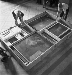 In 1940, knowing that France was falling into the hands of the Germans, the workers of the Louvre took action. All 400,000 works were evacuated and sent to the south of France. In secret they transported the priceless paintings and statues, and held by wealthy families in Vichy,where they would remain for five years, only returning at the end of the war.The workers without a doubt saved the masterpieces from becoming part of the over 5 million works that were looted by the Nazis during the war.