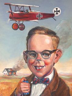 "Little Red Baron by Richard J Frost  ""Little Red Baron"" is in in the March 1st Laluzapoluza 2013 group art show ..  contact:  Matt Kennedy  La Luz de Jesus Gallery  (323) 666-7667"