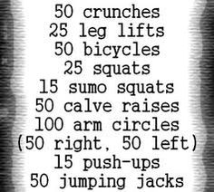 30 day workout challenge, non progression, just do this every day